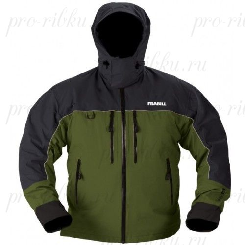 Куртка штормовая Frabill F4 Cyclone RainSuit Jacket Green размер XL