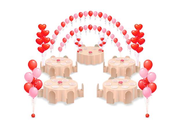 свадебный набор из шаров
