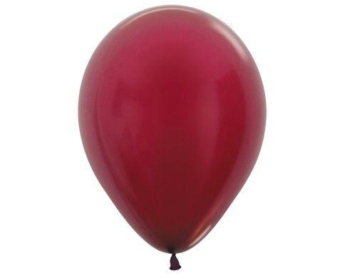 Гелиевый шар бордо