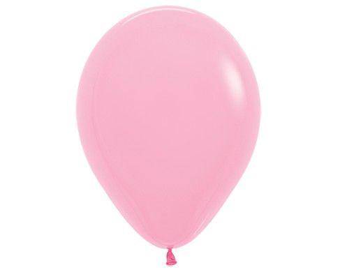 Гелиевый розовый шар