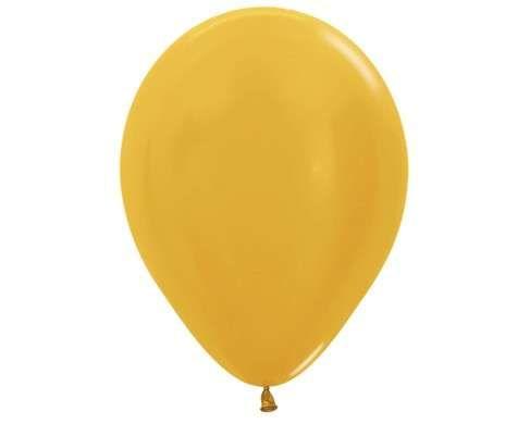 Гелиевый золотой шар
