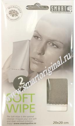Smart Microfiber Салфетка для лица замша серая 2 шт