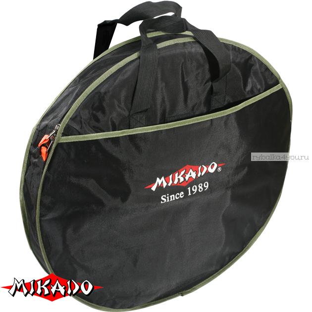 Купить Сумка для перевозки садков Mikado круглая 1 секция (63 х 17 см.) чёрный-зелёный