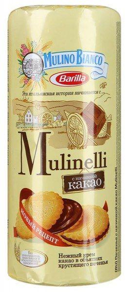 Мулинелли печ. с начинкой какао 300г