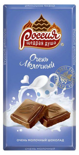 Россия шок. молочный 90г