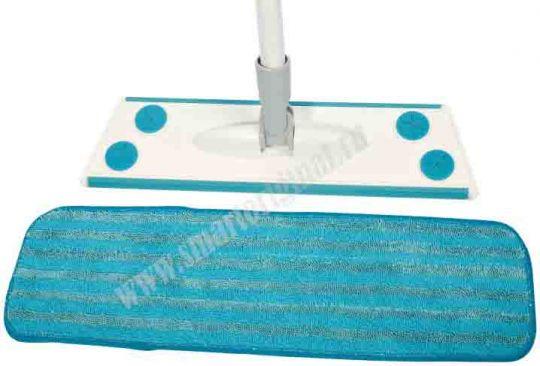 Smart Microfiber Набор № 1 Швабра бытовая, 1 насадка влажная + Скребок универсальный 2 в 1