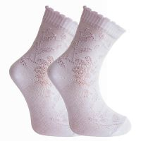 Носки детские ажур  белые BFL№07