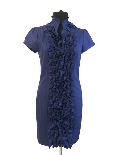 Габардиновое платье прилегающего силуэта