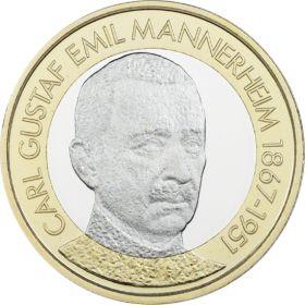 Карл Густав Эмиль Маннергейм (1867-1957) 5 евро Финляндия 2017