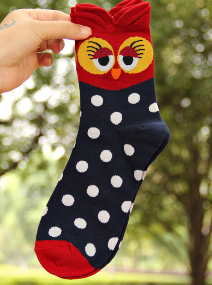 Женские стильные носки р-р 36-39 Совушки