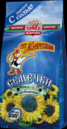 """Семечки """"От Мартина"""" черные с морской солью 200г"""