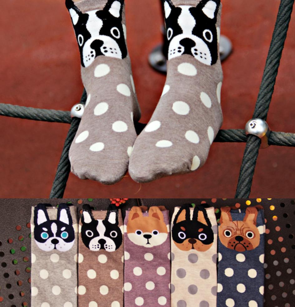Женские стильные носки р-р 36-39 Собачка