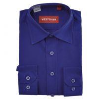 Рубашка однотонная(6-16лет)№2505