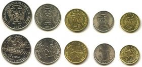 Набор монет Сан-Томе и Принсипи 1977-1990