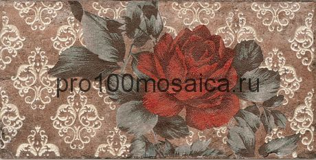 15-005-9 Плитка  Cir Chicago Ins.S/2 Vintage Roses Old 10x20 см (CIR)