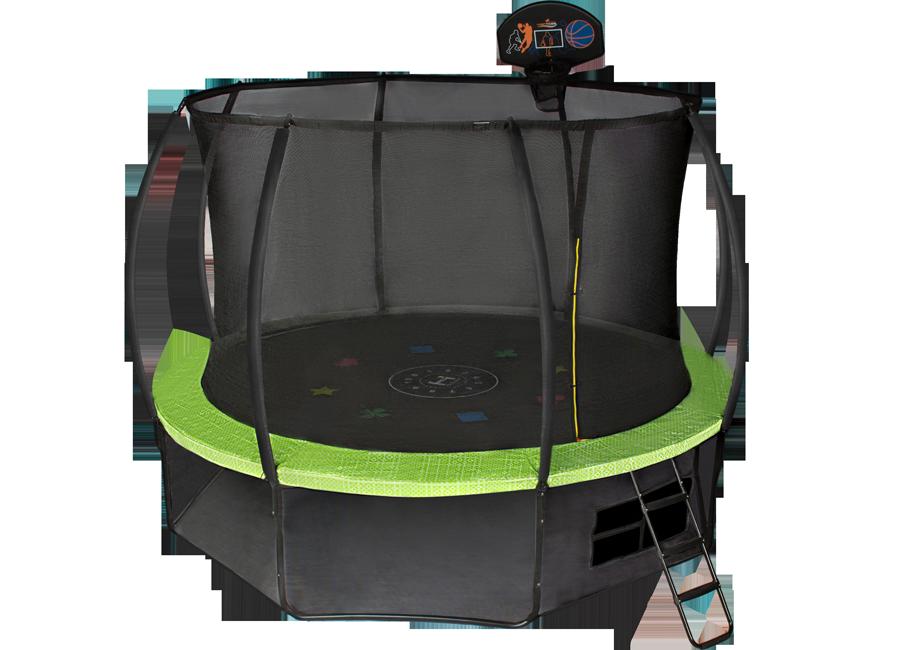Батут с внутренней защитной сеткой - Hasttings Air Game (3,05м), зеленый