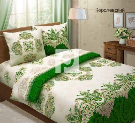 """Постельное бельё """"Королевский"""" (зеленый), бязь"""