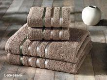 Комплект из 4-х махровых полотенец BALE (50*80)*2+(70*140)*2 (кофейный) Арт.953-1