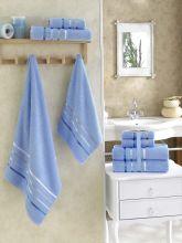 Комплект из 4-х махровых полотенец BALE (50*80)*2+(70*140)*2 (голубой) Арт.953-8