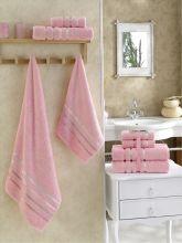 Комплект из 4-х махровых полотенец BALE (50*80)*2+(70*140)*2 (розовый) Арт.953-9