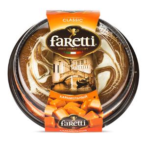 "Торт бисквитный ""Faretti"" карамельный 400гр*6"