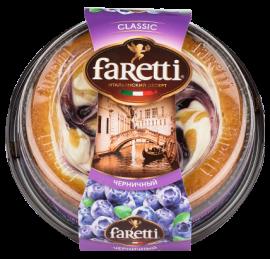 "Торт бисквитный ""Faretti"" черничный 400гр*6"