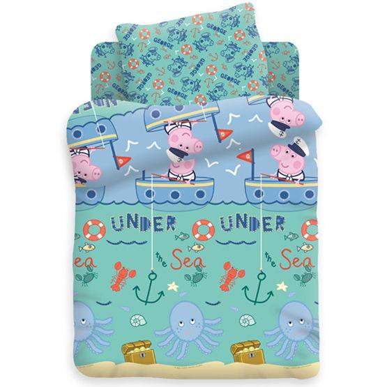 """Детское постельное бельё """"Джордж рыбак"""", рис.8806+8807-1"""