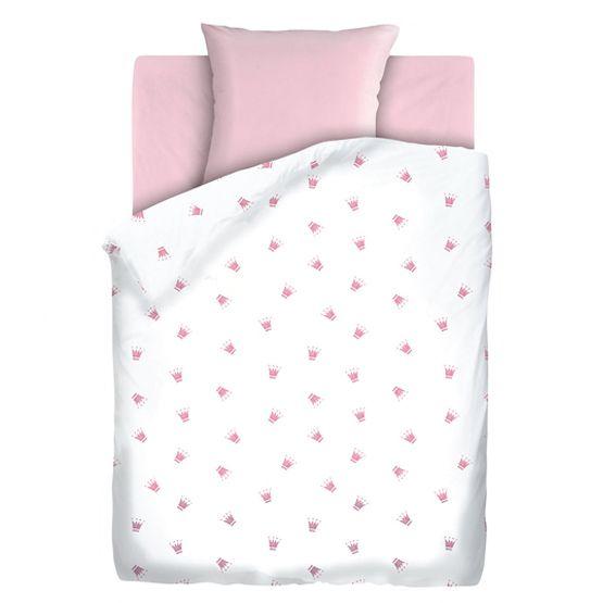 """Детское постельное бельё """"Коронки"""", рис.8809 розовый"""
