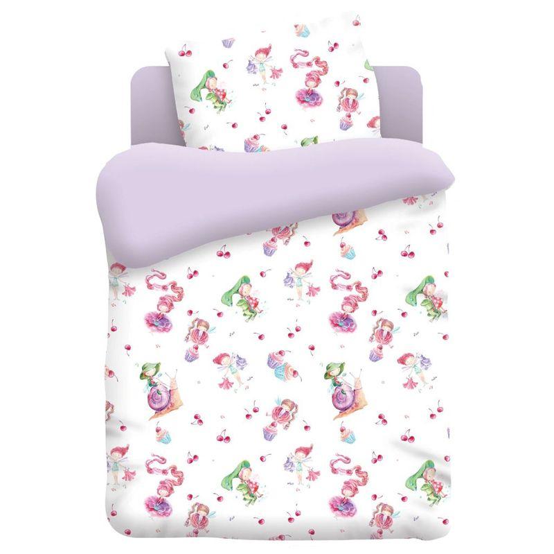 """Детское постельное бельё """"Маленькие феечки"""", рис.4623-фиолет."""