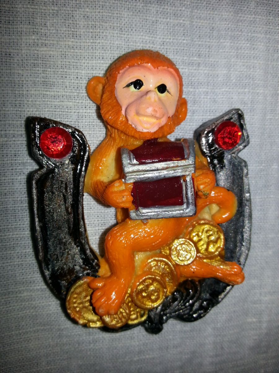 Магниты на холодильник обезьянка 001-2