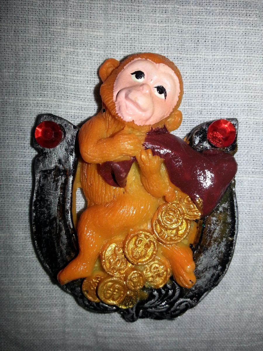 Магнит на холодильник обезьянка 001-3