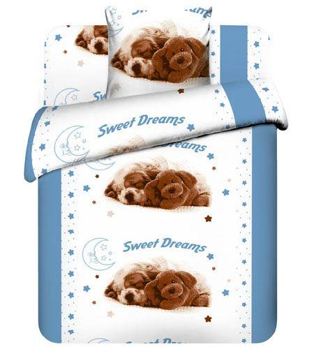 """Детское постельное бельё """"Сладкие сны"""", рис.5421-1."""