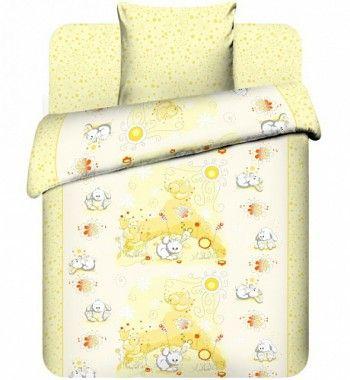 """Детское постельное бельё """"Плюшевые зайки"""", рис.3976-3."""