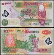 Замбия 1000 квача 2009 UNC ПРЕСС ИЗ ПАЧКИ