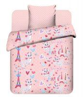 """Детское постельное бельё """"Мари в Париже"""" рис.5006."""