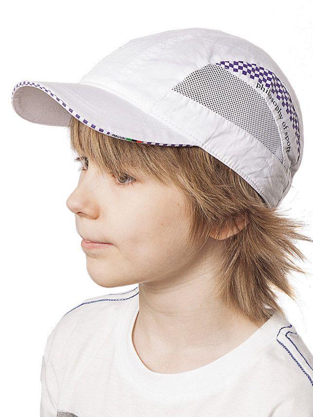 Бейсболка для мальчика Белая