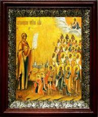 Боголюбская (Московская) икона БМ (19х22), темный киот