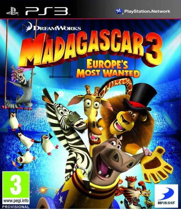 Игра Мадагаскар 3 (PS3)