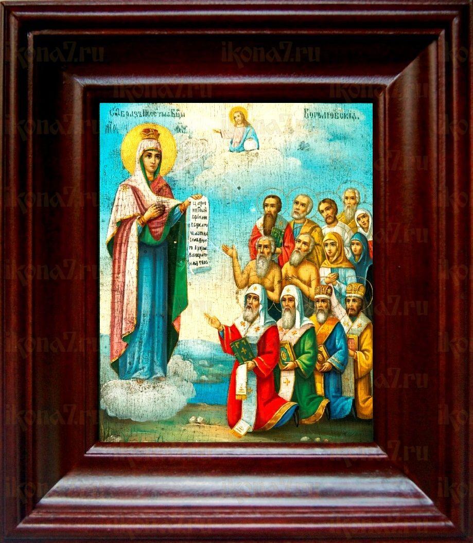 Боголюбская (Московская) икона БМ (21х24), простой киот