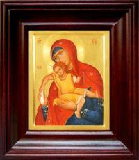 Киккская (Милостивая) икона БМ (21х24), простой киот