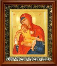 Киккская (Милостивая) икона БМ (19х22), светлый киот