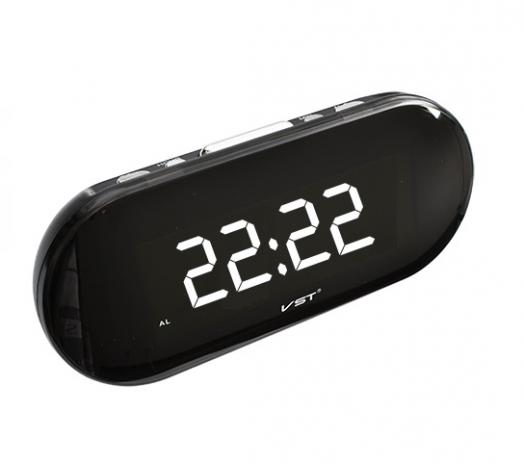 Часы эл. VST717-6 бел.цифры