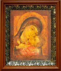 Корсунская икона БМ (19х22), светлый киот