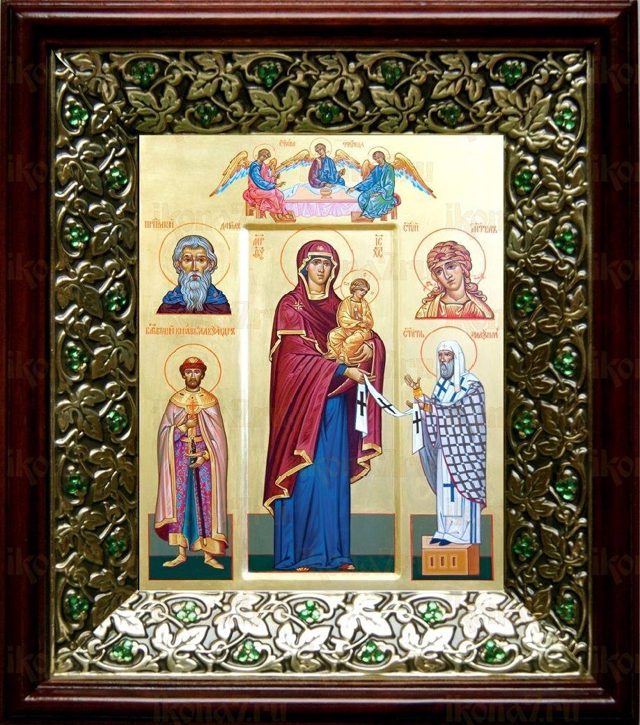 Максимовская икона БМ (21х24), киот со стразами