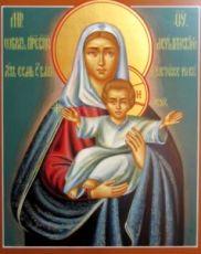 Леушинская икона Божьей Матери (рукописная на заказ)