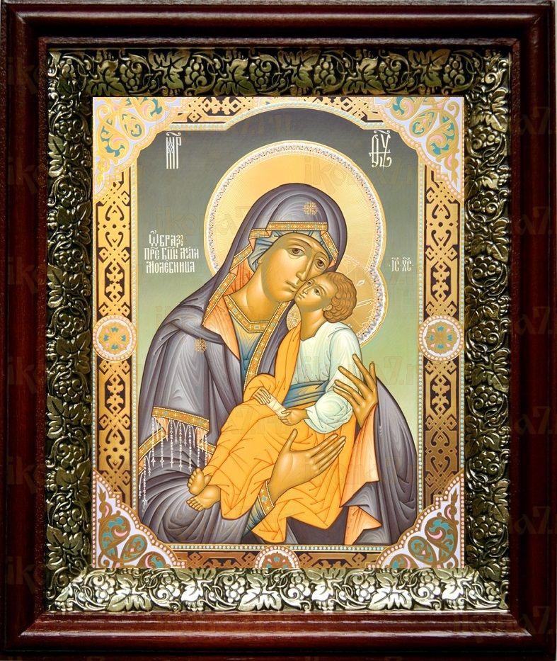 Мати Молебница (19х22), темный киот