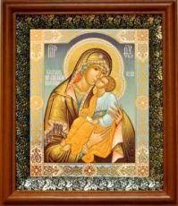Мати Молебница (19х22), светлый киот