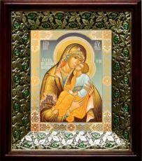 Мати Молебница (21х24), киот со стразами