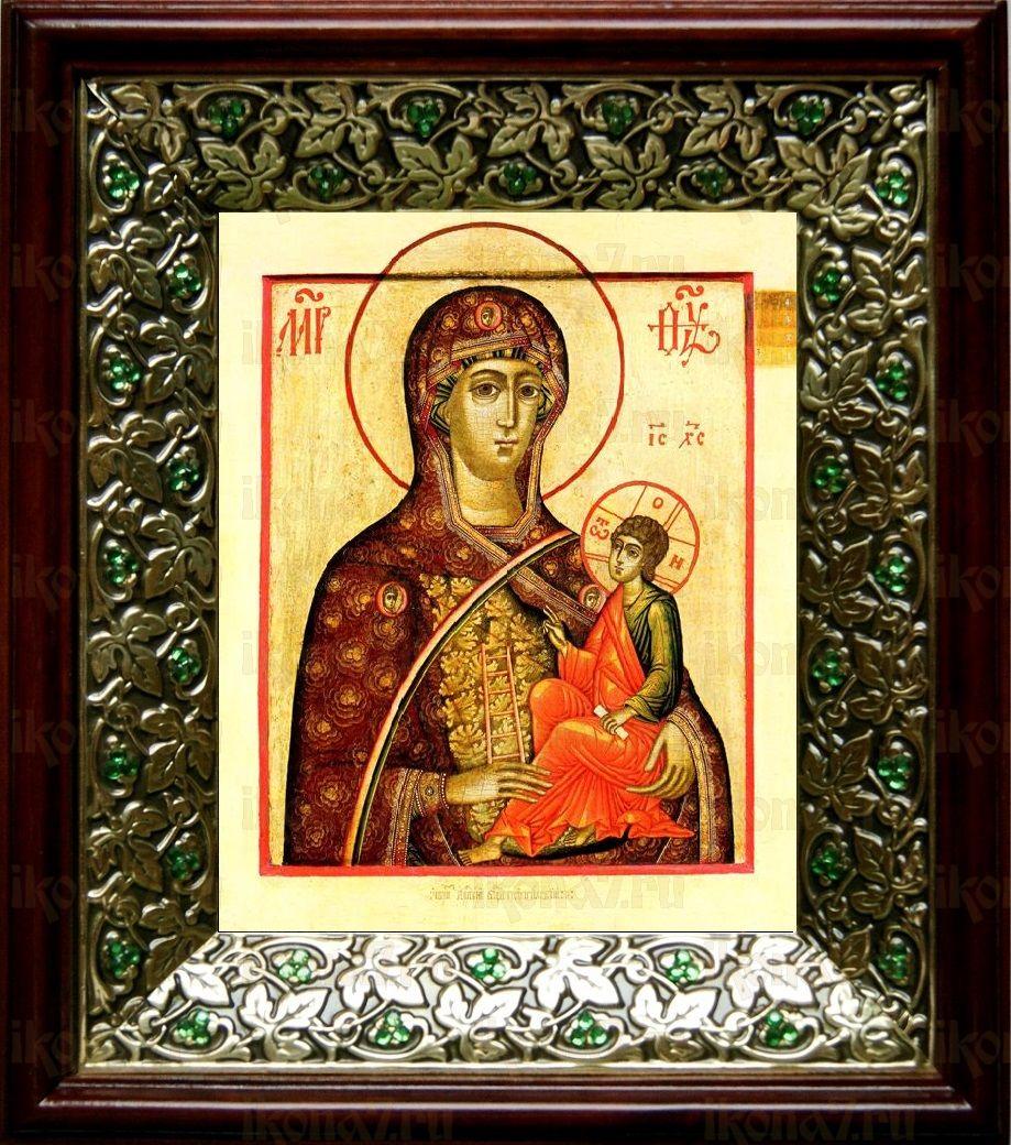 Молченская икона БМ (21х24), киот со стразами