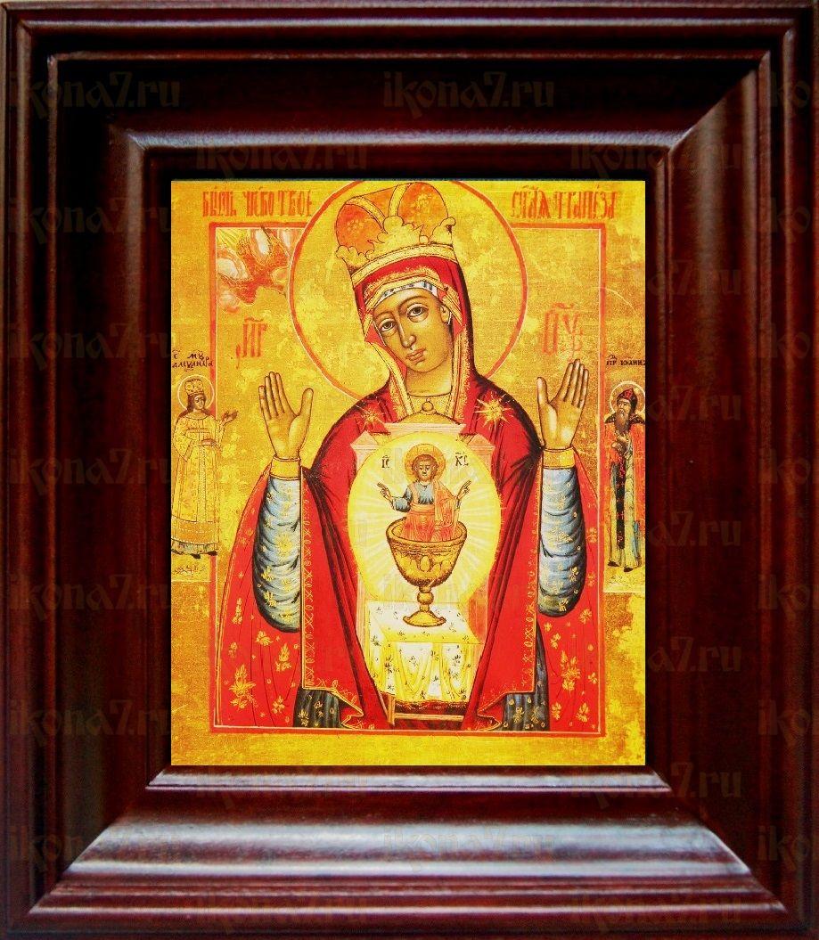 Никейская икона БМ (21х24), простой киот